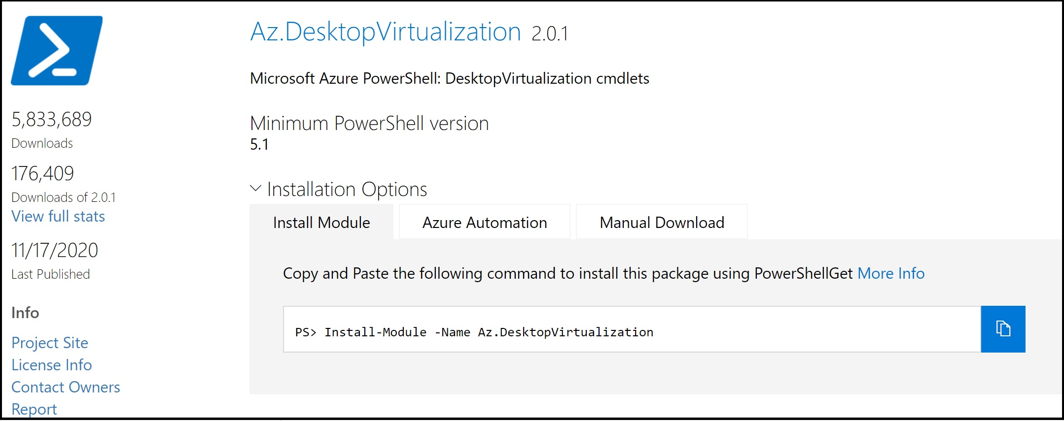 A new release of the WVD Powershell module